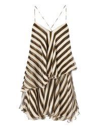 Caroline Constas Mer Multicolor Angelica Stripe Flounce Dress