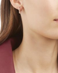 Jacquie Aiche - Metallic Diamond Shaker Hoop Earring - Lyst