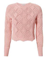 Ronny Kobo - Pink Avia Knit Top - Lyst