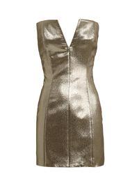 Redemption Metallic Lamé Strapless Dress