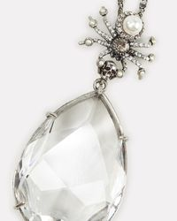 Alexander McQueen White Spider Crystal Droplet Necklace