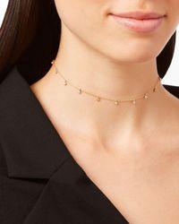 Zoe Chicco - Metallic Dangling Diamonds Necklace - Lyst