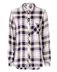 Rails Blue Exclusive Plaid Shirt: Navy/yellow