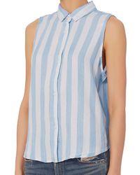 Rails - Blue Mila Striped Sleeveless Shirt - Lyst
