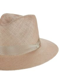 Rag & Bone - Multicolor Panama Ribbon Trim Hat - Lyst