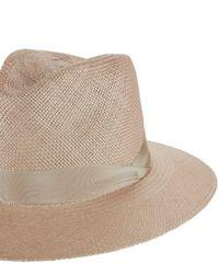 Rag & Bone - Multicolor Panama Ribbon Trim Hat - Lyst