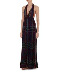 Missoni - Black Lurex Halter Gown - Lyst