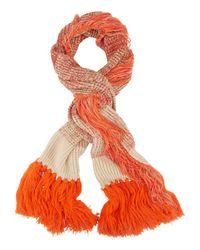 Missoni Cold Weather Fringe Scarf: Orange