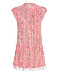 Poupette Multicolor Heni Fringe Mini Dress