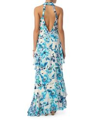 Exclusive For Intermix - White Stacie Ruffled Maxi Dress - Lyst
