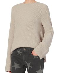 Helmut Lang - Natural Open Back Cotton/cashmere Pullover - Lyst