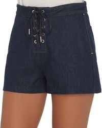 Rag & Bone - Blue Rag & Bone/jean Lace-up Resin Short - Lyst