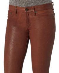 Rag & Bone | Brown Rag & Bone/jean Cognac Leather Skinny Pants | Lyst