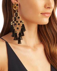 Mercedes Salazar - Exclusive Fiesta Earrings: Black - Lyst