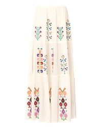 Melissa Odabash | White Pixi Embroidered Maxi Skirt | Lyst