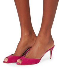 Paul Andrew   Pink Aristate Suede Mules   Lyst