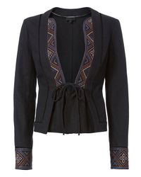 Exclusive For Intermix   Black Paige Embroidered Jacket   Lyst