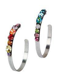 DANNIJO - Metallic Umija Rainbow Hoop Earrings - Lyst