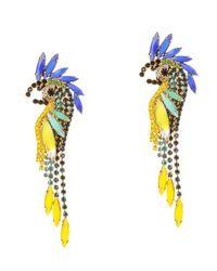 Elizabeth Cole - Multicolor Daya Crystal Earrings - Lyst