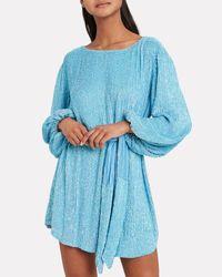 retroféte Blue Grace Sequin Mini Dress