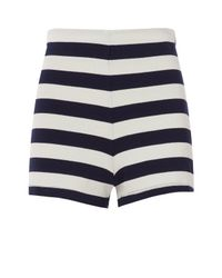 Mds Stripes Blue Lucy Striped Shorts
