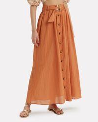 Lisa Marie Fernandez - Brown Belted Crinkle Skirt - Lyst