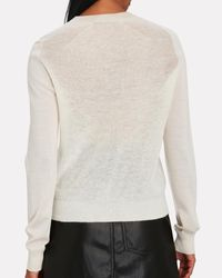 Proenza Schouler White Lightweight Crewneck Sweater