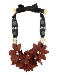 Lizzie Fortunato | Red Samburu Floral Collar Necklace | Lyst