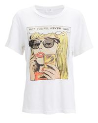 Re/done White Not Yours Graphic T-shirt