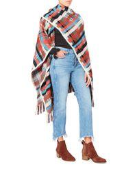 Missoni - Multicolor Plaid Wool And Alpaca-blend Cape - Lyst