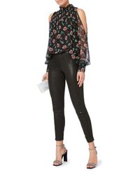 Intermix - Black Aurora Cold Shoulder Top - Lyst
