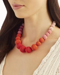 Suzanna Dai - Multicolor Ombré Gumball Necklace - Lyst