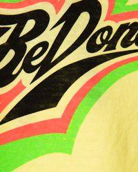 Re/done Yellow Sunfade Neon Logo T-shirt