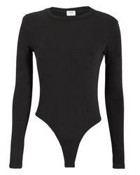 Re/done Black Long Sleeve Bodysuit