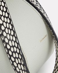 Proenza Schouler White Mini Zipper Leather Pochette