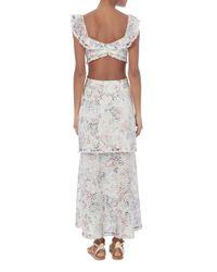 Zimmermann Multicolor Jasper Honeycomb Tiered Floral Dress