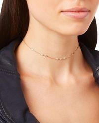 Jacquie Aiche - Metallic 1x2x3 Diamond Choker Necklace - Lyst