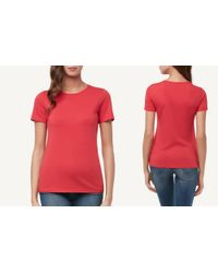 Intimissimi Red Short-sleeve Supima® Cotton Top
