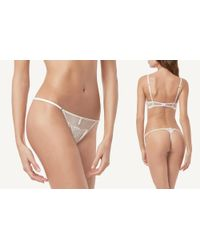 Intimissimi | Multicolor Lace Satin Lace G-string | Lyst