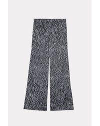Intimissimi Black Viscose-satin Animal Print Pajama Pants