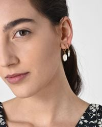 Isabel Marant - White It's All Right Asymmetric Gold-tone Earrings - Lyst