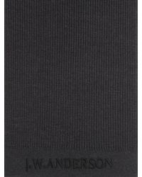J.W. Anderson Black Charcoal Jwa Scarf for men