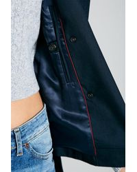 Jack Wills | Blue Hathershaw Cropped Trench Coat | Lyst