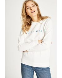 Jack Wills - White Madingley Embroidered Sweatshirt - Lyst