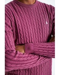 Jack Wills - Multicolor Marlow Cable Crew Neck Jumper for Men - Lyst