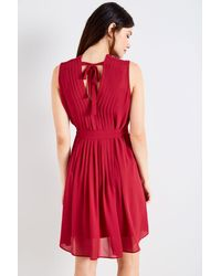 Jack Wills - Red Whieldon Pleated Dress - Lyst