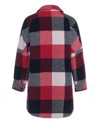 Woolrich Red Buffalo Karo Coat Multicolor