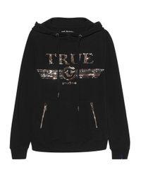 True Religion Glitter Hoodie Black für Herren