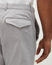 Jaeger - Gray Micro Texture Garment Dye Trouser for Men - Lyst