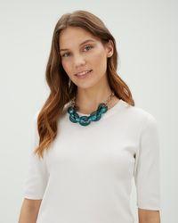 Jaeger - Green Jenna Links Short Necklace - Lyst